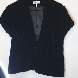 Metro 7 black velvet embroidered blazer Size 16